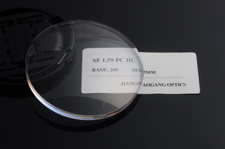 Optical Polycarbonate Lens Blanks 65/70MM Diameter 1.59 Index Hard Coated