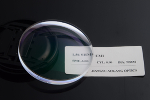 SHMC Coating Cr 39 Lenses , Optical Single Vision 1.56 Mid Index Lenses