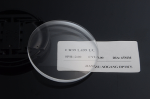 CR39 1.499 Single Vision Uncoated Prescription In Optical Lenses For Eyeglasses