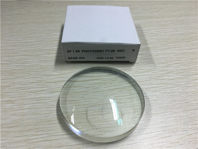 FT-28 Transition Bifocal Semi Finished Lens Blanks Anti Reflection Coating 1.56 Index