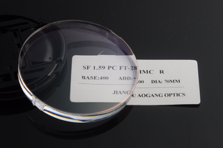 Semi Finished prescription 1.59 PC polycarbonate HMC AR coating flat top bifocal ophthalmic lens blanks