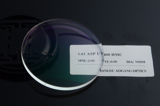 1.61 Optical Cr39 Single Vision Lenses MR-8 Monomer ASP UV400 HMC Coating