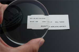 Far / Near Bifocal Semi Finished Lenses , 1.56 Round Top AR Coating Lens Blanks