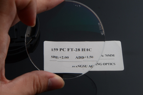 High quality 1.59 PC polycarbonate HMC AR coating flat top bifocal ophthalmic lens