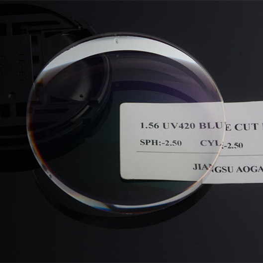 Chinese manufacturer 1.56 UV420 blue light block blue cut optical lens price